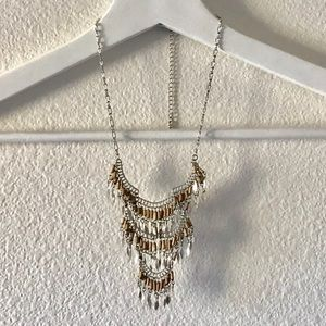 Free People Silver Boho Tiered Necklace